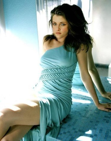 bella with her blue dress