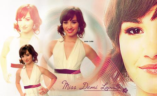 demi in white dress!
