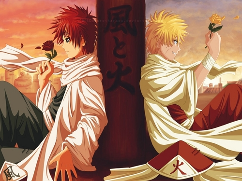Naruto Fanfiction wallpaper called kage Naruto and Gaara