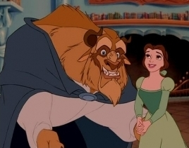 Disney Couples wallpaper with anime titled Belle and the Beast