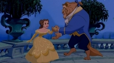 Disney Couples wallpaper entitled Belle and the Beast