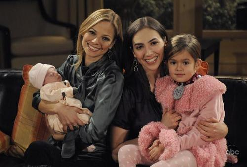 All My Children wallpaper called Bianca & Reese with Miranda & Gabrielle