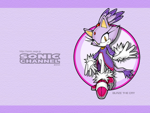 Blaze The Cat Wallpaper Probably With Anime Titled Blaz In Sonic Channel
