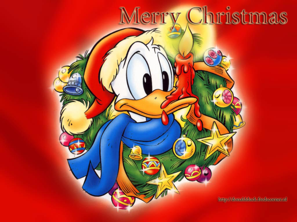 Christmas donald duck wallpaper