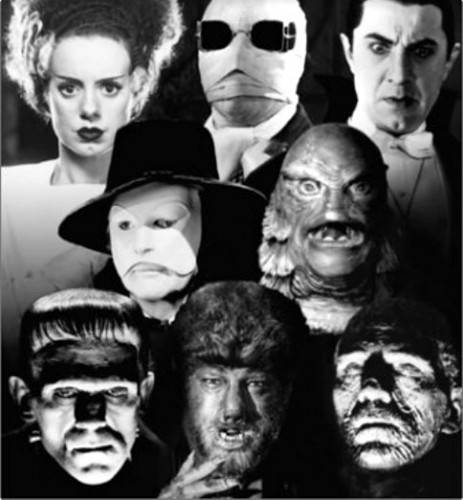 Horror films achtergrond entitled Classic Horor Movie Monsters