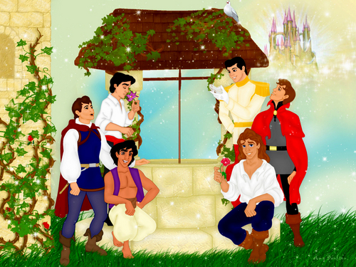 Disney wallpaper probably with a bouquet entitled Disney Princes Wallpaper
