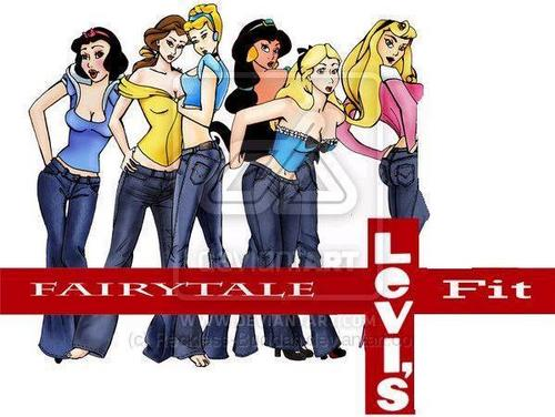Disney Princesses Levis - disney-princess Fan Art