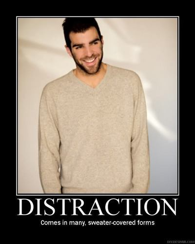 Zachary Quinto wallpaper probably containing a suéter, camisola called Distraction