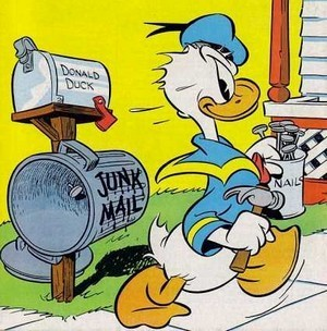 Donald canard camelote, indésirable Mail
