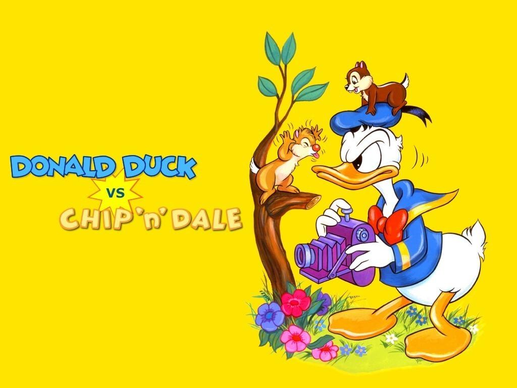 Donald canard vs Chip'n Dale fond d'écran