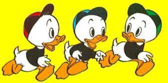 Donald Duck wallpaper with anime titled Donald's Nephews