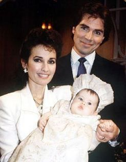 Erica & Travis Montgomery with their daughter Bianca when she was a baby