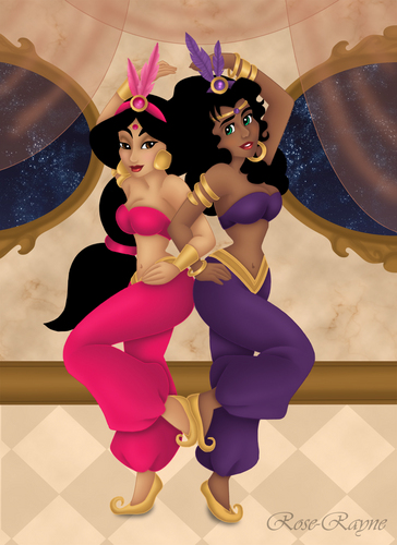 Disney Leading Ladies karatasi la kupamba ukuta possibly containing a meteorological balloon called Esmeralda and jimmy, hunitumia