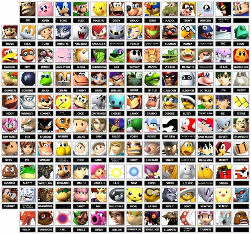 Fake Super Smash Bros Roster