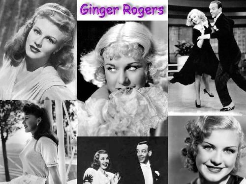 sinema bora karatasi la kupamba ukuta containing a bouquet entitled Ginger Rogers