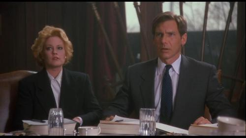 Harrison Ford achtergrond with a business suit, a suit, and a three piece suit titled Harrison in 'Working Girl'