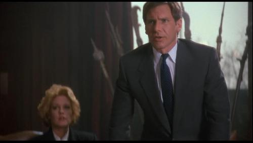 Harrison Ford achtergrond with a business suit, a suit, and a three piece suit called Harrison in 'Working Girl'