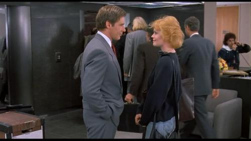 Harrison Ford Hintergrund containing a business suit and a suit entitled Harrison in 'Working Girl'