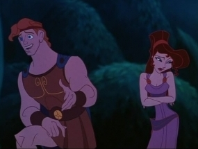 Disney Couples wallpaper possibly containing anime titled Hercules and Meg