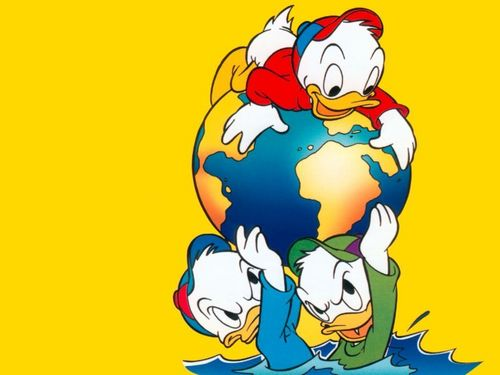 pato donald wallpaper probably with animê called Huey, Dewey and Louie wallpaper