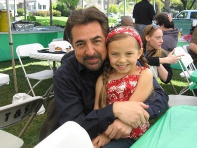 Joe Mantegna and Caitlin Carmichael
