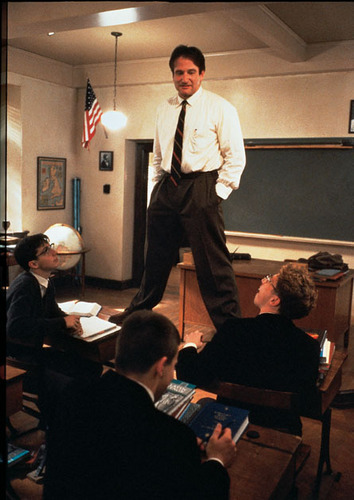 Dead Poets Society wallpaper containing a business suit entitled John Keating