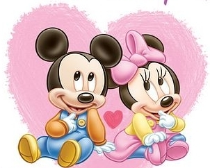 Mickey and Minnie wallpaper possibly with a rose and a bouquet called Mickey and Minnie