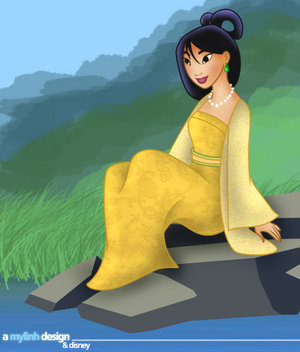 Disney Leading Ladies karatasi la kupamba ukuta called Mulan