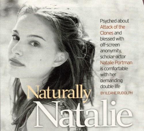 Natalie Portman wallpaper with a portrait titled Natalie Portman Jane magazine