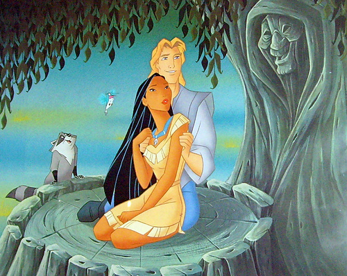 Disney Couples wallpaper containing anime titled Pocahontas and John Smith