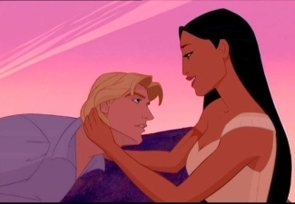 Disney Couples wallpaper with anime titled Pocahontas and John Smith