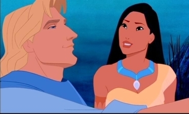 Disney Couples wallpaper with anime called Pocahontas and John Smith