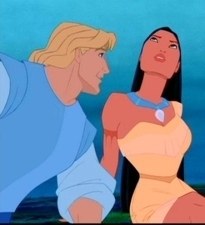 Disney Couples wallpaper containing anime entitled Pocahontas and John Smith