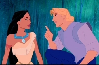 Disney Couples wallpaper possibly containing anime titled Pocahontas and John Smith