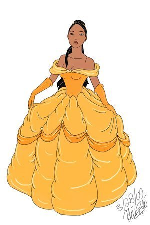 Disney Leading Ladies karatasi la kupamba ukuta possibly with an overskirt called Pocahontas