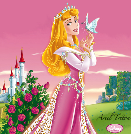 Princesses Disney fond d'écran probably with a bouquet called Princess Aurora
