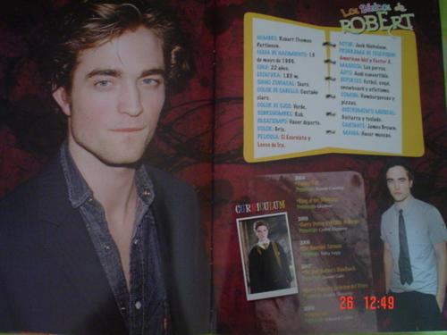 Robert Pattinson (Mexican Magazine Scans)