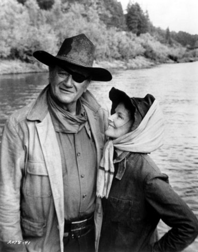 Katharine and John Wayne