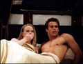 Ryan in bed with Liza played by Marcy Walker - all-my-children screencap