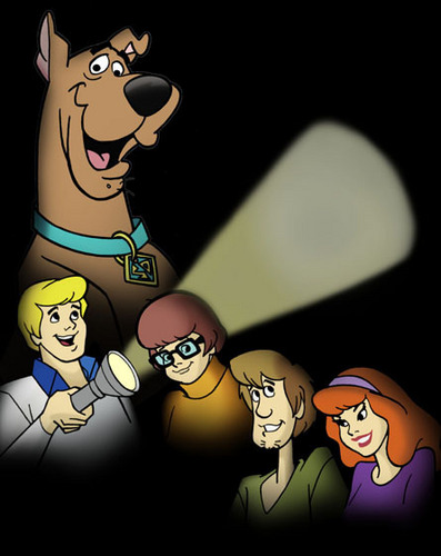 Scooby-Doo achtergrond probably containing anime entitled Shadows