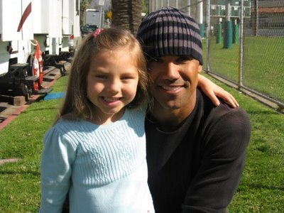 Shemar Moore and Caitlin Carmichael