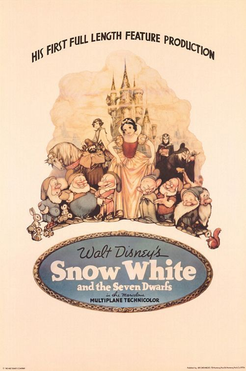 Snow White and the Seven Dwarfs Movie Poster - Classic ...