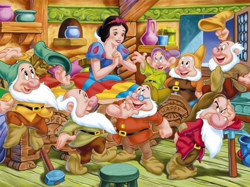 Snow White and the Seven Dwarfs fond d'écran