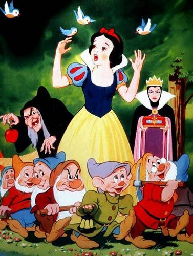 Snow White and the Seven Dwarfs wallpaper with anime titled Snow White