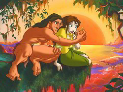 Disney Couples wallpaper containing anime called Tarzan and Jane