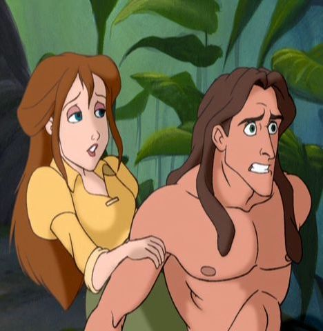 Disney Couples wallpaper with anime called Tarzan and Jane