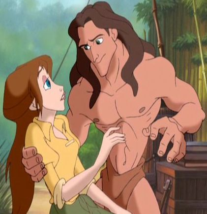 Disney Couples wallpaper with anime titled Tarzan and Jane