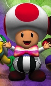Toad as Mario Party Host