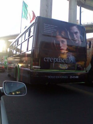 Twilight Mexican bus