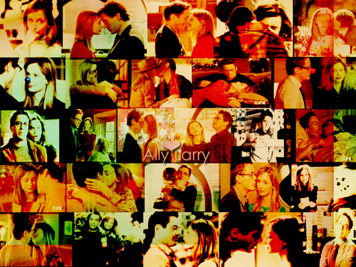 ally&larry - ally-mcbeal Wallpaper